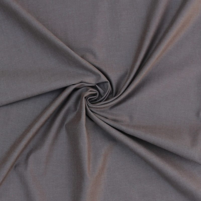 True Taupe Peppered Cotton Fabric